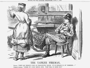 The Yankee Fireman, 1866 by John Tenniel