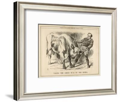 William Gladstone Taking the (Irish) Bull by the Horns