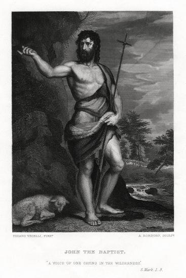 John the Baptist, 19th Century-A Rordorf-Giclee Print
