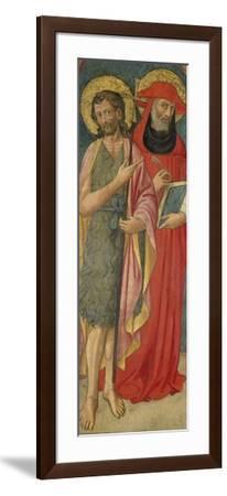 John the Baptist and St. Jerome, C.1430--Framed Giclee Print