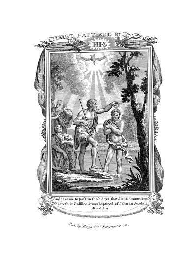 John the Baptist Baptising Jesus, C1808--Giclee Print