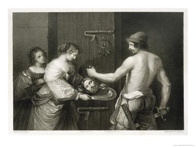 John the Baptist He is Beheaded and Salome Holds out a Dish to Receive His Head-W.h. Egleton-Giclee Print