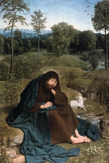 John the Baptist in the Wilderness, 1490-1495-Geertgen Tot Sint Jans-Giclee Print