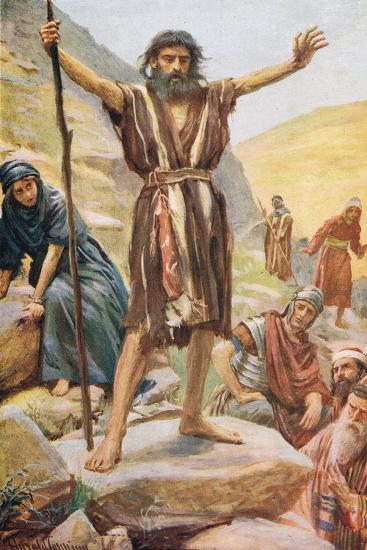 John the Baptist-Harold Copping-Giclee Print