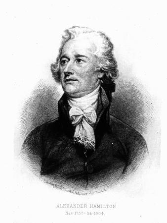 Alexander Hamilton, Engraved by Albert Rosenthal, 1888 (Engraving)
