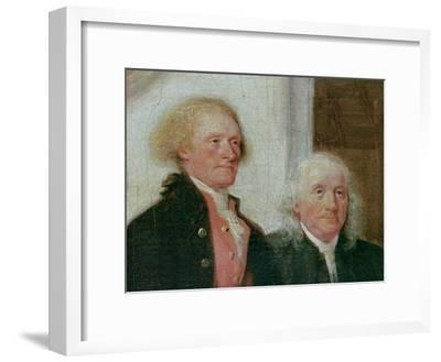 Drafting the Declaration of Independence, 28th June 1776, Detail of Thomas Jefferson (1743-1826)…