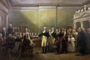 George Washington Resigning His Commission by John Trumbull