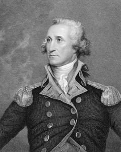 Portrait Engraving of George Washington after Painting by John Trumbull