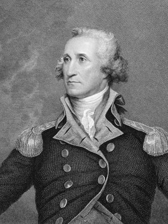 Portrait Engraving of George Washington after Painting