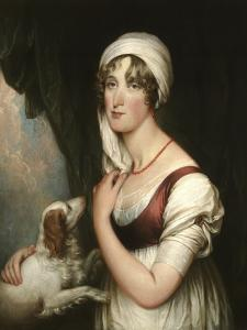 Sarah Trumbull with a Spaniel, c.1802 by John Trumbull