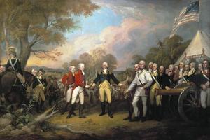 Saratoga: Surrender, 1777 by John Trumbull