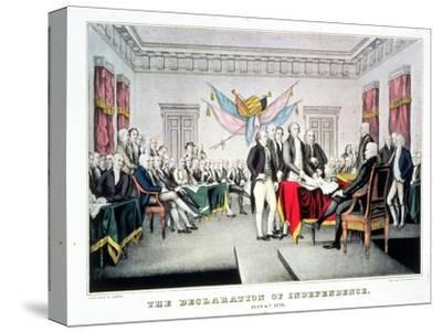 Signing the Declaration of Independence, July 4th, 1776 Engraved and Pub. by Nathaniel Currier…