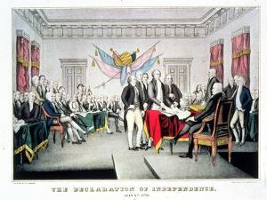 Signing the Declaration of Independence, July 4th, 1776 Engraved and Pub. by Nathaniel Currier… by John Trumbull