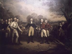 Surrender of General Burgoyne at Saratoga New by John Trumbull