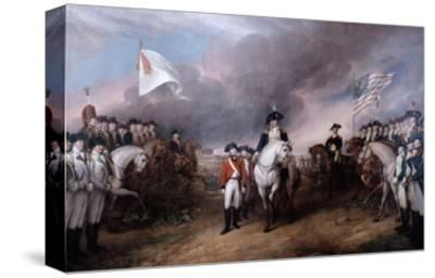 Surrender of General Lord Cornwallis at Yorktown, 19 October 1781, Painted 1820.
