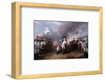 Surrender of General Lord Cornwallis at Yorktown, 19 October 1781, Painted 1820.