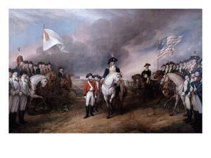 Surrender of General Lord Cornwallis at Yorktown, 19 October 1781, Painted 1820. by John Trumbull