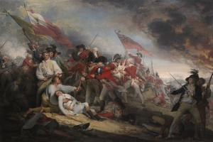 The Battle of Bunker's Hill on June 17th 1775 by John Trumbull