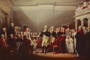 The Resignation of George Washington on 23rd December 1783, C.1822 by John Trumbull