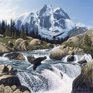 Fishing at Eagle Rocks by John Van Straalen