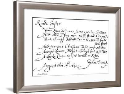 John Vicars--Framed Giclee Print