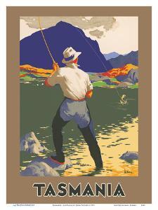 Tasmania - Australia - Mountain Lake Fly Fishing by John Vickery