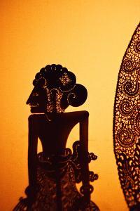 Shadow, or Wayang, Puppets, Ubud , Bali by John W Banagan