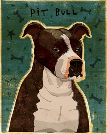 Brindle Pit Bull by John W^ Golden