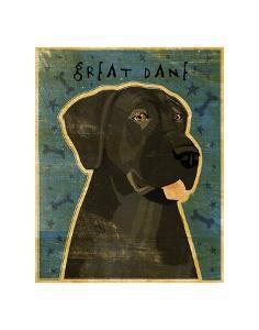 Great Dane (Black, no crop) by John W^ Golden