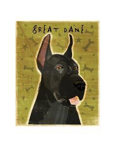 Great Dane (Black) by John W^ Golden