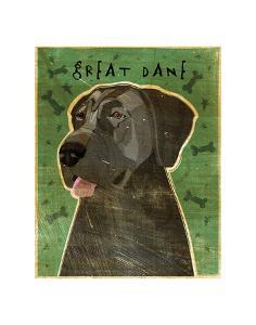 Great Dane (Blue, no crop) by John W^ Golden
