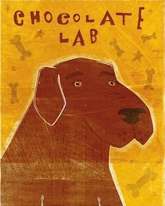 Lab (chocolate) by John W^ Golden