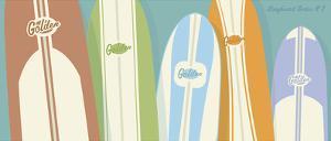 Longboards Surfboard print No. 2 by John W^ Golden
