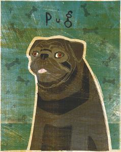 Pug (black) by John W^ Golden