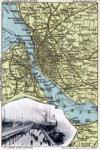 Map of Liverpool, Merseyside, 1903 by JOHN WALKER