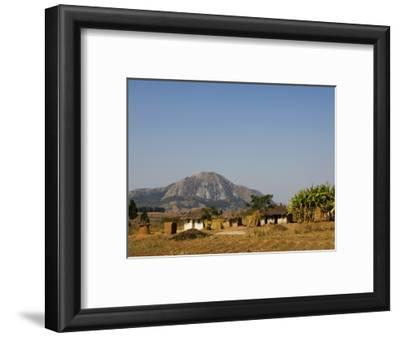 Malawi, Dedza, Grass-Roofed Houses in a Rural Village in the Dedza Region