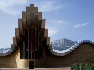 Striking Architecture of Ysios Winery Mirrors Limestone Mountains of Sierra De Cantabria Behind by John Warburton-lee
