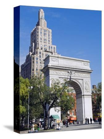 Washington Arch Stands in Washington Place with Backdrop of High Rise Buildings, Greenwich Village