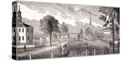 """Central Part of Concord, from """"Historical Collections of Massachusetts"""""""