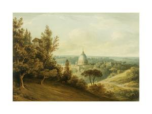 St Peter's from the Villa Milleni Near Rome by John `Warwick' Smith