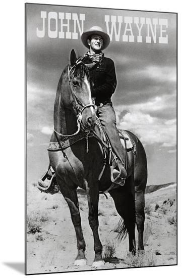 John Wayne (On Horse) Movie Poster Print--Mounted Print