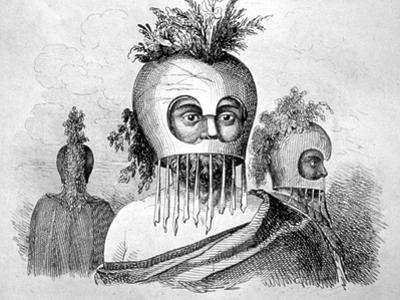 Hawaiian Man Wearing a Gourd Mask, 18th Century by John Webber