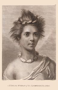 Hawaiian Native Girl - A Young Woman of the Sandwich Islands by John Webber