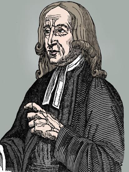 John Wesley, 18th century English non-conformist preacher, 1832-Unknown-Giclee Print