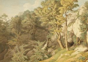 Canonteign, Devon, 1804 by John White Abbott