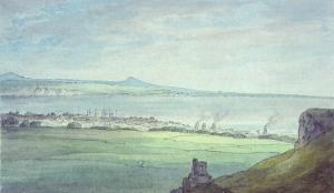 Leith, with Kirkaldy on the Coast of Fifeshire by John White Abbott