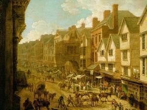 The High Street, Exeter, 1797 by John White Abbott