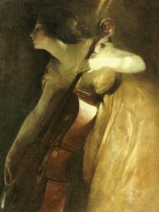 A Ray of Sunlight (The Cellist), 1898 by John White Alexander