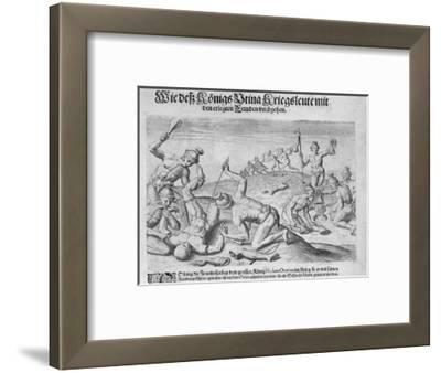 Cannibalism, Engraved by Theodor De Bry