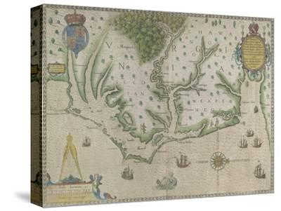 White-De Bry Map Of Virginia